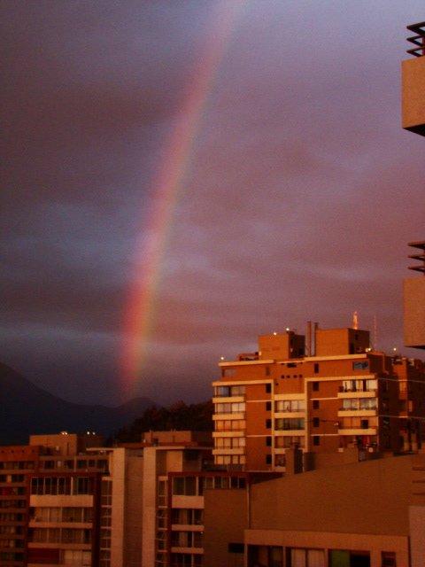 Arcoiris- widok z okna:)