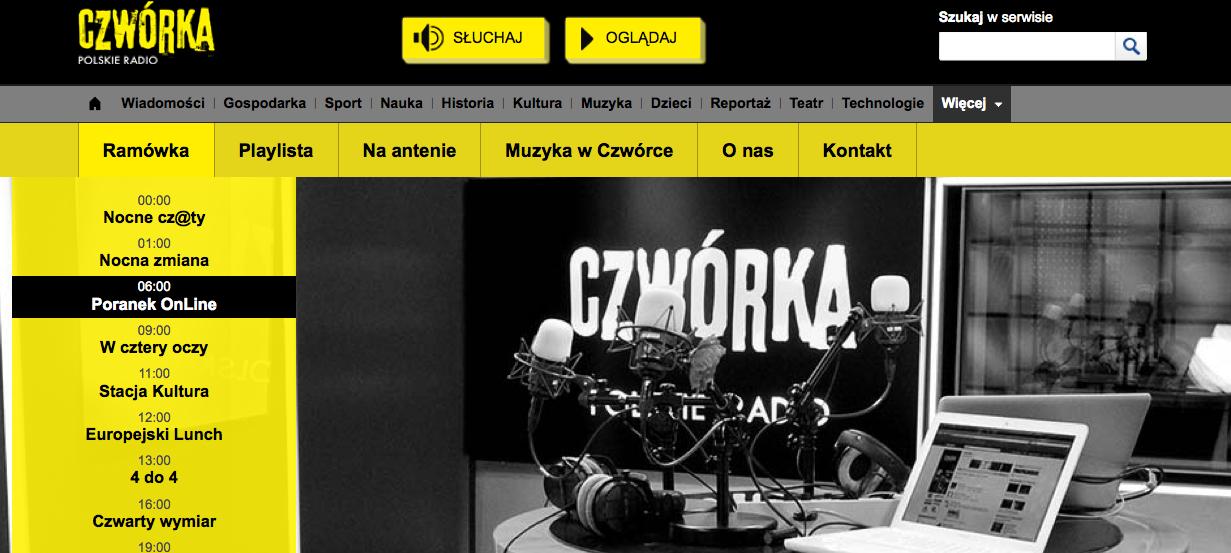 Tresvodka w poranku CZWÓRKI Polskiego Radia