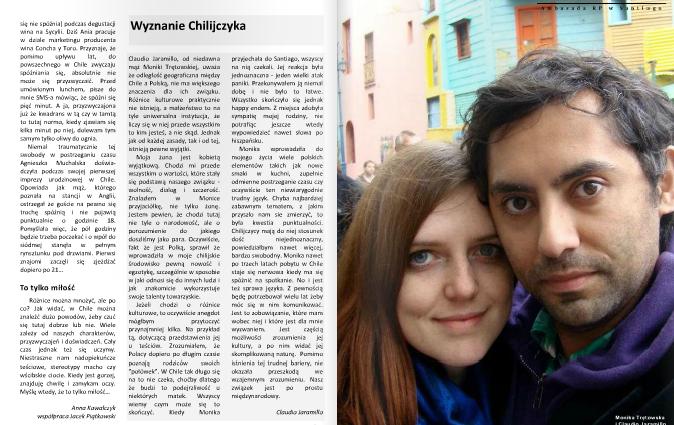 Państwo Tresvodkowscy w nowym biuletynie Ambasady RP w Chile