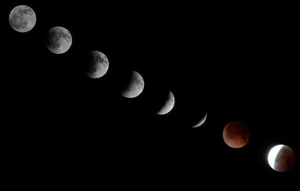 Zaćmienie księżyca z Chile
