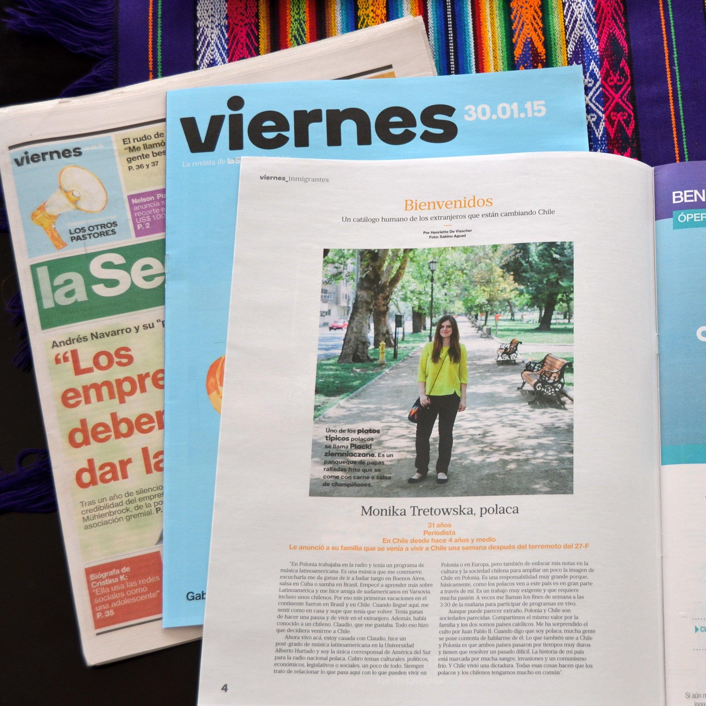 Tresvodka w chilijskim dzienniku 'La Segunda'